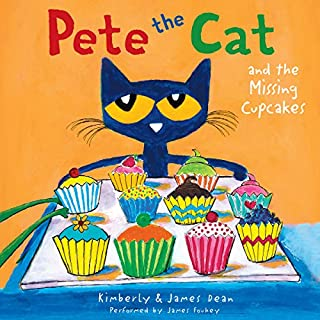 Pete the Cat and the Missing Cupcakes                   Written by:                                                                                                                                 James Dean,                                                                                        Kimberly Dean                               Narrated by:                                                                                                                                 James Fouhey                      Length: 5 mins     Not rated yet     Overall 0.0