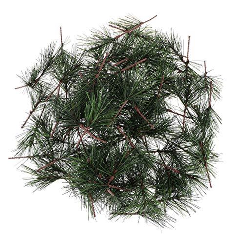 Harilla 100 Pcs Artificial Pine Plastic Light Garland Birthday Christmas Ornament