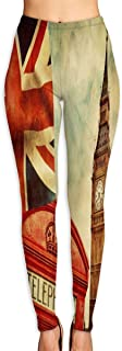 Cyloten Symbel of UK and UK Flag Yoga Pants Washable Legging Tights Quick Dry Sportswear for Women Girl Workout