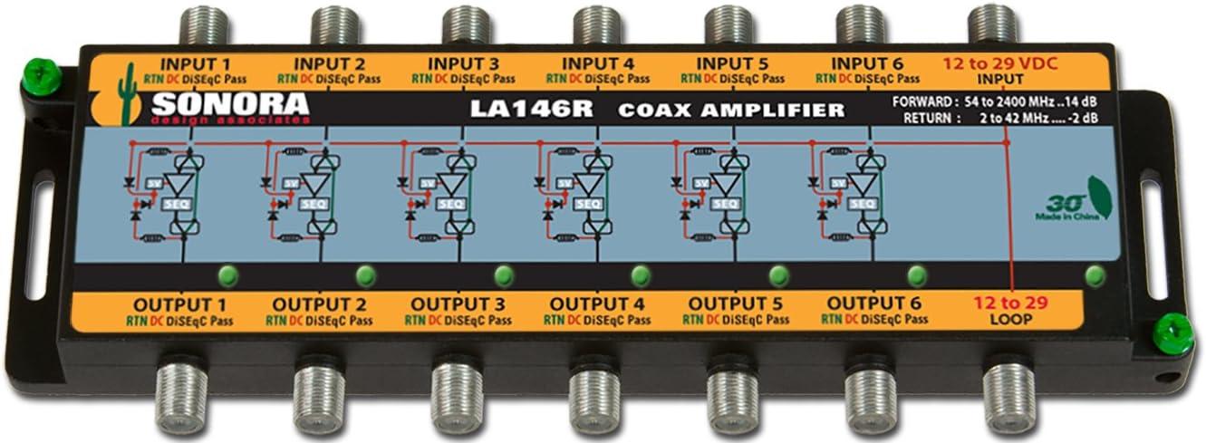 LA146R-T DIRECTV Slimline SL5, 95º Ku/Ka FLEX2 14 dB Gain Amplifier Power Adaptor