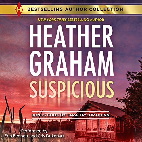 Suspicious audiobook cover art
