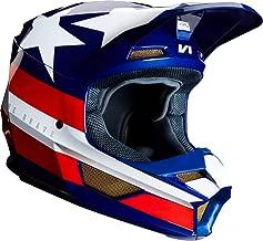 Fox Racing V1 REGL SE Offroad Helmet Large White Red Blue