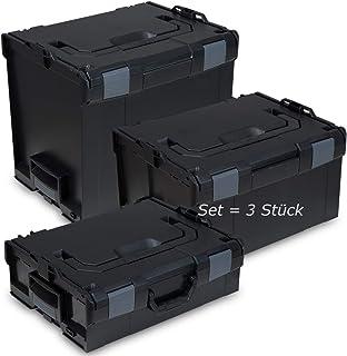 L-BOXX® set van 3 136 + 238 + 374 Bosch Sortimo leeg zwart gereedschapskoffer transportbox