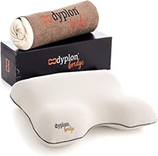 Dyplon Bridge | Almohada Ortopédica Cervical | Memory Foam | Cojin Antiescaras | 4 Posiciones de Descanso | Producto Europeo | Funda 100% en algodón Natural | Transpirable