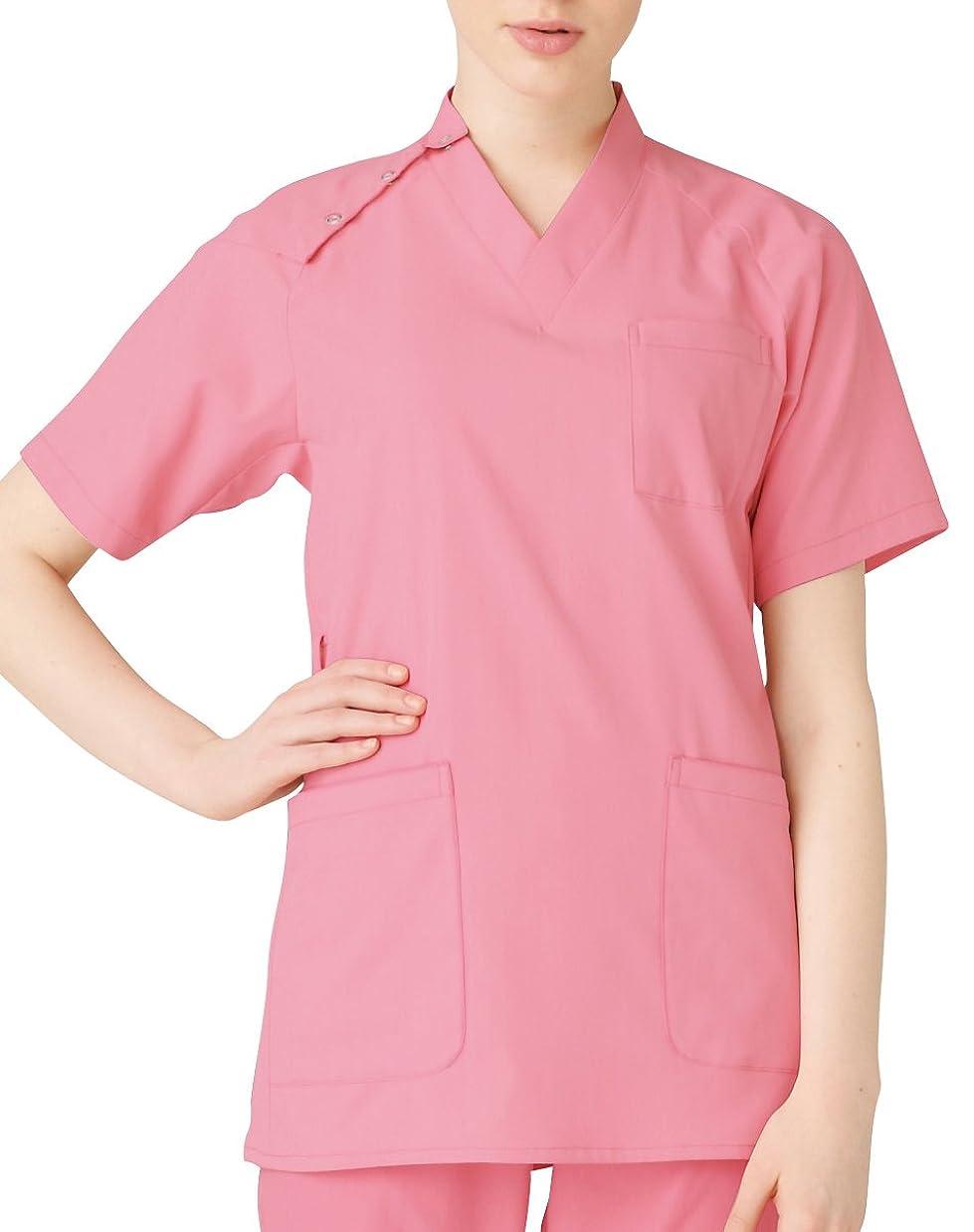リスト履歴書予測子医療/介護ユニフォーム Vネックスクラブ 男女兼用 ルコック ピンク サイズ:LL UQM1522-90