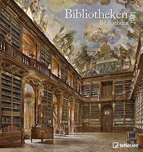 Bibliotheken 2021 - Wand-Kalender - Foto-Kalender - 45x48 - Bücher: Bibliotheka