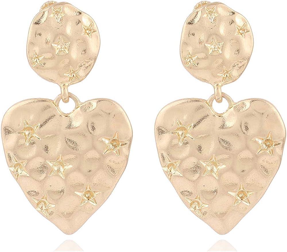 HAPPYAN New Clip On Earrings No Pierced for Women & S925 Heart Hoop Dangle Drop Earrings Fashion Bijouterie