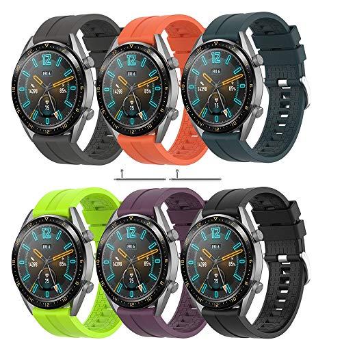 TOPsic Cinturino Huawei Watch GT 2/Huawei Watch GT Fashion/Sport/Active/Elegant/Classic/Gear S3 Frontier/Galaxy Watch 46mm/S3 Classic, 22mm Braccialetto di Ricambio Easy Fit Silicone Banda