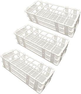 Pocomoco 3 Paks Rack Tube Plastics Plast، دارای 21 قفسه آزمایشگاهی لوله آزمایشگاهی دارای لوله آزمایش 30 میلی متر ، رنگ سفید ، جداشدنی (21 سوراخ)