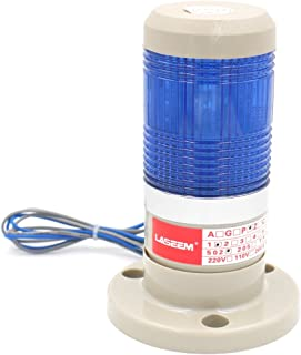 Baomain Warning Stack Light 110V AC Industrial Continuous Blue LED Signal Tower Lamp