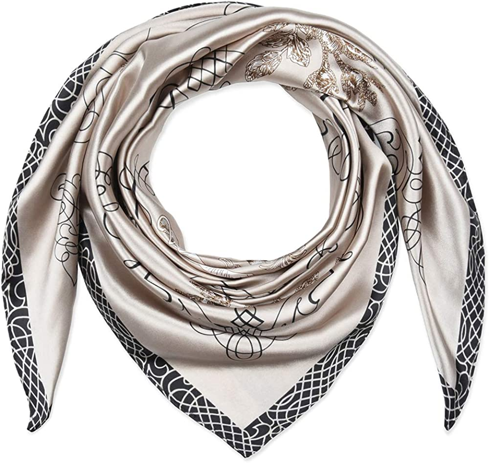 Corciova Super popular specialty store 35 x A surprise price is realized White Square Stain Hair Silk Head Like Ba Scarf