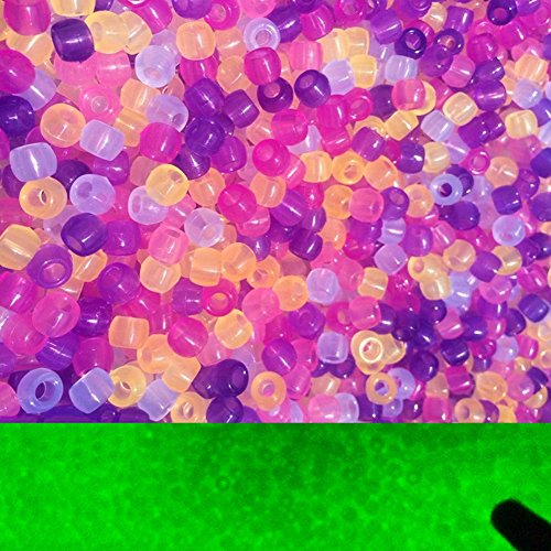 1000 cuentas multicolor científicas para rayos UV, cuentas de plástico reactivas cambiantes (1000 unidades).