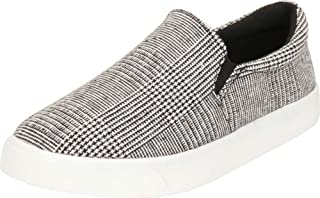 Cambridge Select Women's Classic Round Toe Stretch Slip-On Flatform Fashion Sneaker
