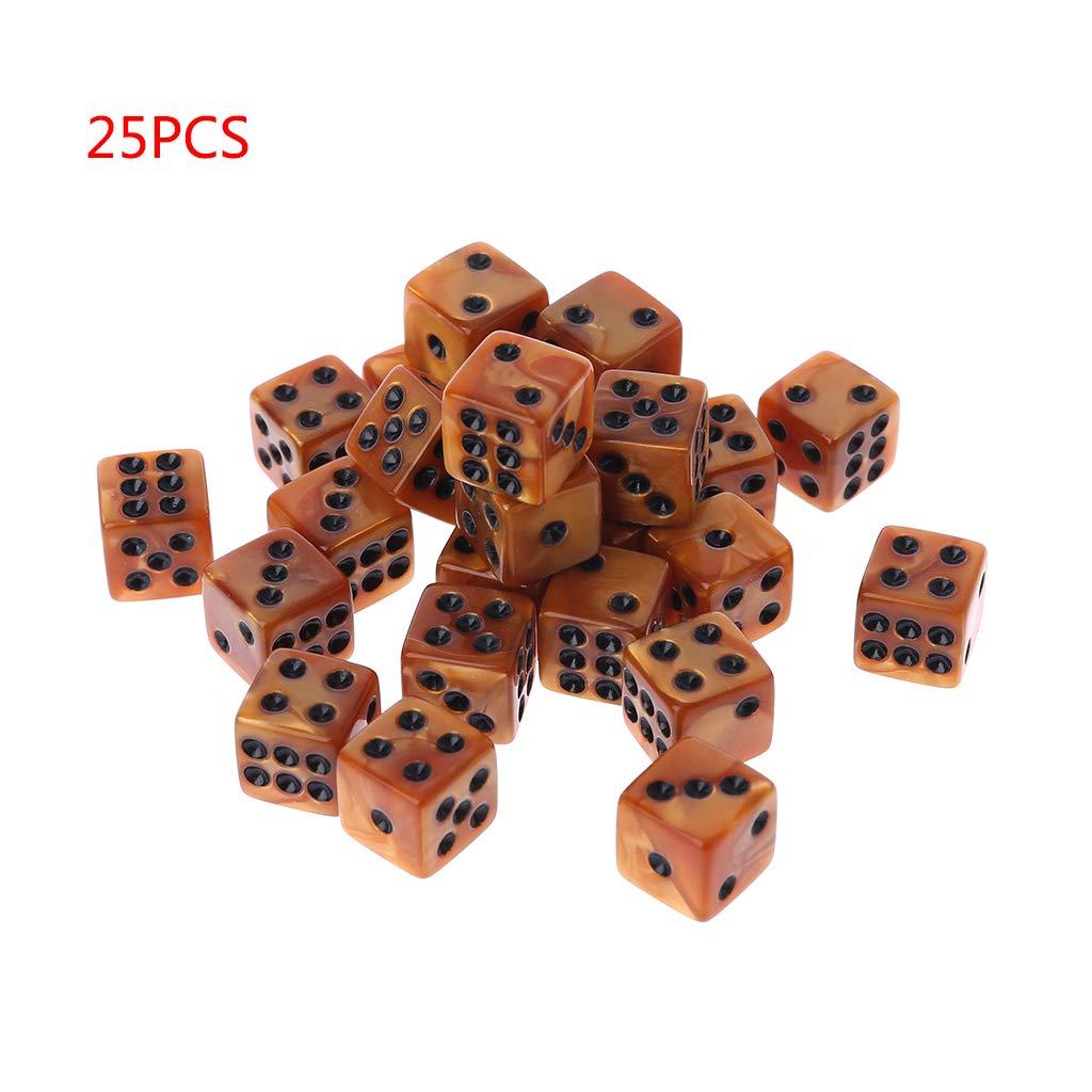 Haorw - Juego de 25 cubos de número cubo, para aprender a matar, juegos casinos, fiestas y regalos, 2 colores: Amazon.es: Hogar