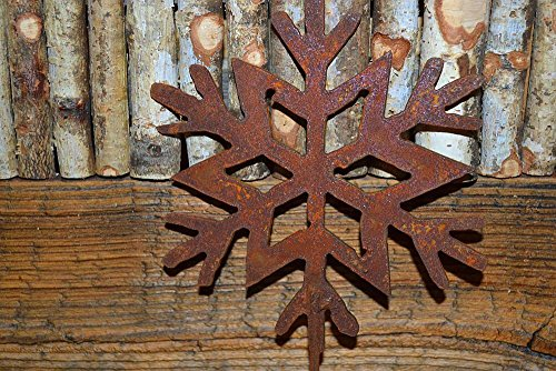 Unbekannt Schneeflocke auf Stab Metall Edelrost Rost Rostfigur Winterdeko Deko Dekoration Deko-Idee Winterdeko Dekoschneeflocke Rostdeko Gartendeko Geschenk-Idee Geschenk