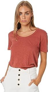Rhythm Women's Wanderer Tee Short Sleeve Cotton Linen Brown