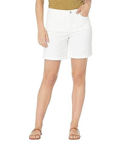 NYDJ Five-Pocket Twill Shorts in Optic White