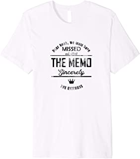 Funny Unicorns Tshirt - Dear Noah Missed Memo Premium