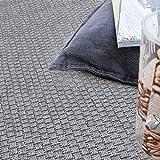 Paco Home In- & Outdoor Teppich, Terrasse u. Balkon, Einfarbig Mit Struktur, Grösse:200x280 cm, Farbe:Grau - 3