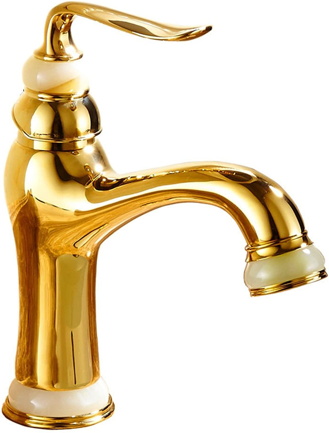 AQMMi Basin Taps Bathroom Sink Faucet Hot and Cold Water Brass Antique Bathroom Sink Faucet Basin Mixer Tap