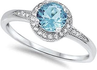 Best aquamarine halo ring Reviews