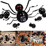 Globos de Decoración de Halloween,Globo de Araña para Fiesta de Halloween,Forma de Araña Enorme...
