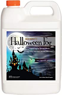 Sanco Industries High Density Halloween Fog Juice - Extraordinarily Long Lasting, High Output, Water Based Fog Machine Fluid - 1 Gallon
