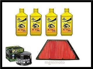 KIT TAGLIANDO COMPATIBILE CON KTM 990 ADVENTURE 07  13 FILTRO OLIO 4LT CASTROL 10W 40 HIFLO RICAMBIO SPECIFICO CAMBIO OLIO FILTRI