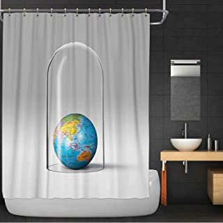 MOOCOM Earth Protection Concept Australia 100% Polyester, Waterproof Shower Curtain,116682 for wash Bath,72 in x 72 in