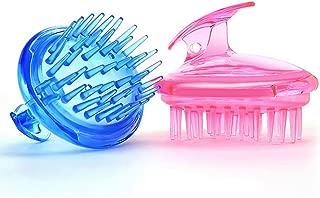 2Pcs Plastic Hair Scalp Massager Shampoo Brush, Soft Scalp Care Brush Hair Growth Stimulating Tool (blue+pink)