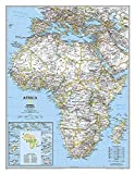 Africa Classic, Tubed: Wall Maps Continents (National Geographic Reference Map)