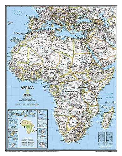 Afrika politisch, laminiert: Wall Maps Continents (National Geographic Reference Map)
