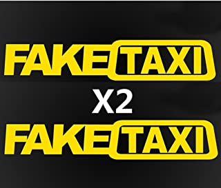 THE MIMI'S Fake Taxi Funny Car Sticker JDM Drift Race Vinyl Sticker Decal x2