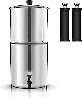 Lixada 11L Seau de Filtration d'eau de Système de Filtre à Eau par Gravité 27 * 52cm pour La Préparation Aux Urgences de R...