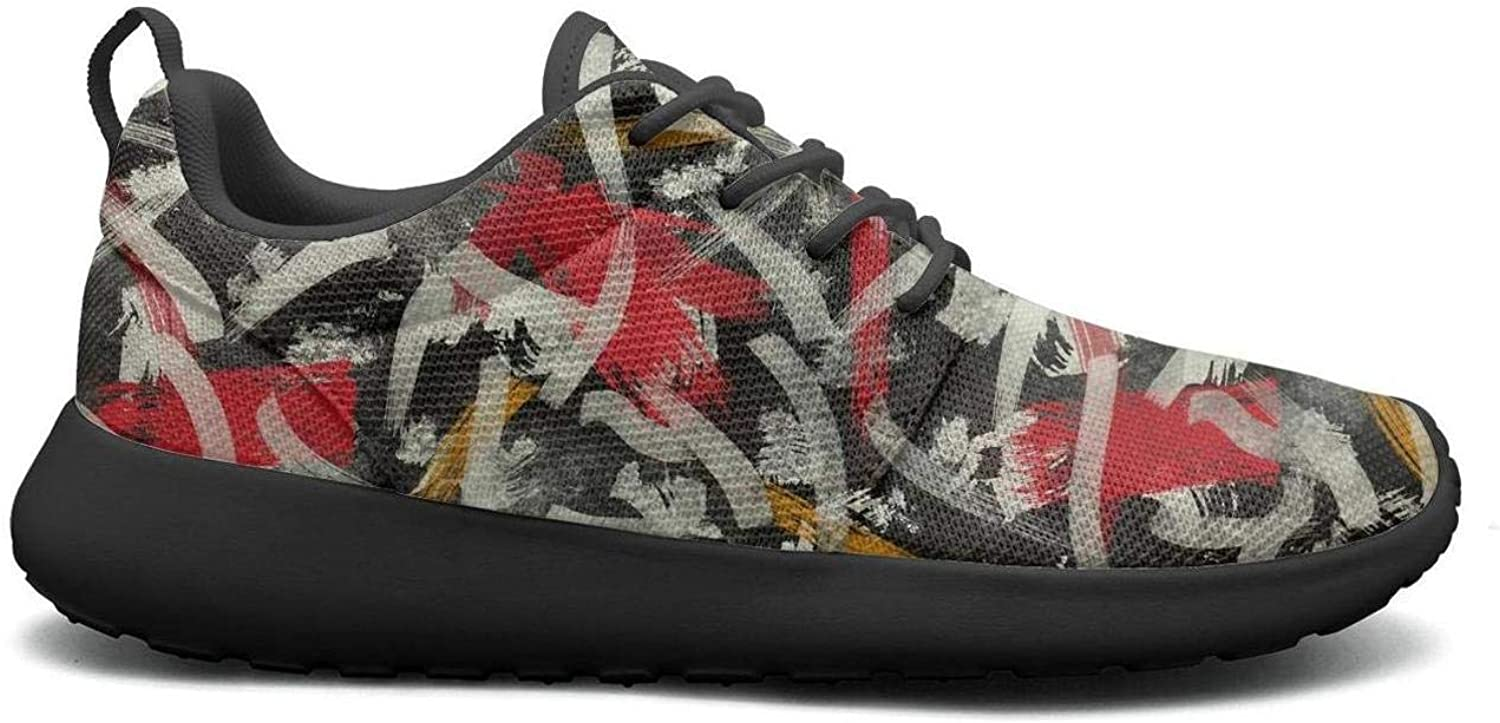 Wuixkas Camo Camouflage Abstract Art Womens Lightweight Mesh Sneakers Casual Running shoes