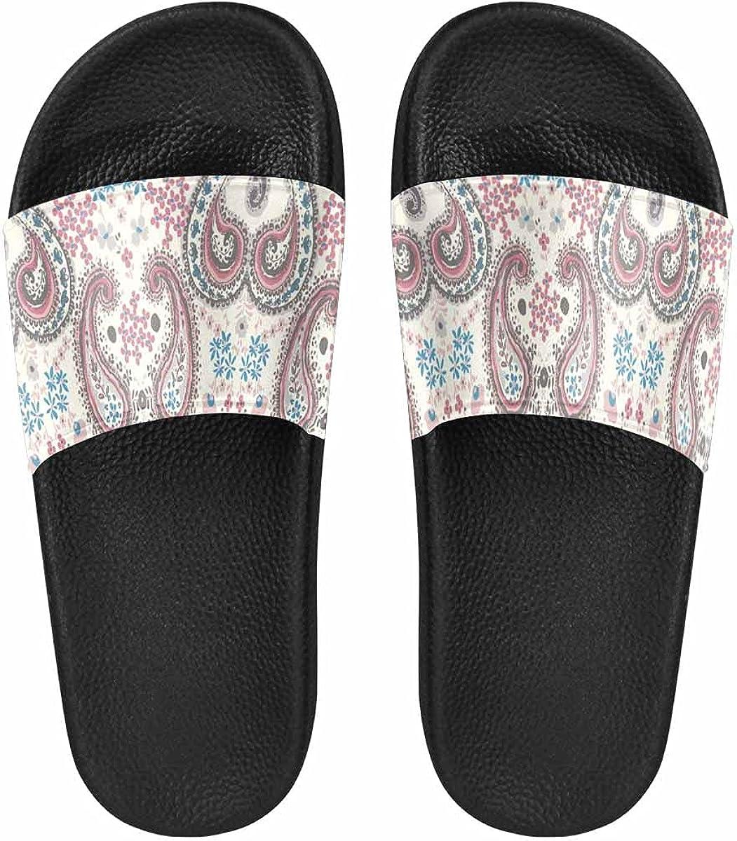 InterestPrint Fashion Watermelon Art Women's Slide Sandal Summer Beach Travel Sandal Indoor Shoes
