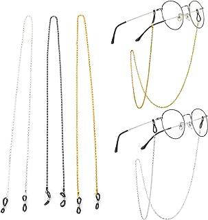 NAHUAA 2 St/ück Brillenkette Perlen Brillenband Gold Silber Brillen Kette Edelstahl Lesebrille Kette Sonnenbrille Gl/äser Schnur Brillenschnur f/ür Schutzbrille Brille Damen Herren Geschenk