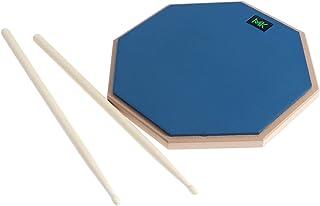 ULTNICE ドラム練習パッド ドラムスティックのペア 木製ドラム 高弾性 初心者用 使った静かな練習(ブルー)
