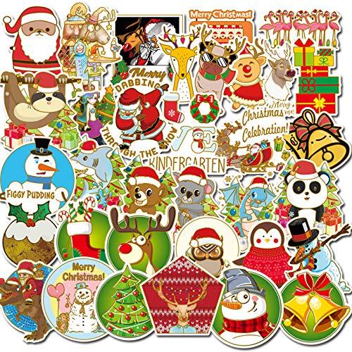 Pegatinas de Navidad Dibujos Animados Santa Claus árbol de Navidad Maleta para portátil teléfono móvil Pegatinas de Taza de Agua 54 Hojas