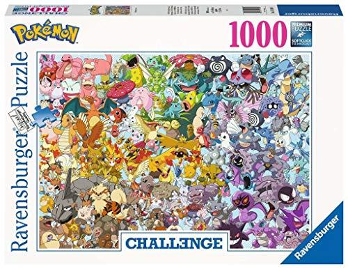 Ravensburger Puzzle 1000 Piezas, Pokémon Challenge, Colección Challenge, Impossible Rompecabezas Ravensburger de Alta Calidad, Jigsaw Puzzle