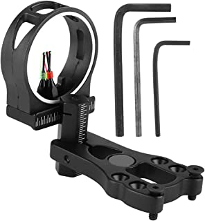 Zerone Compound Bow Sight,TP1530 3 Pin Bow Sight, Alloy Bow Sight Fiber Optics for Hunting/Shooting