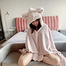 Oversized Sweatshirt Blanket for Adult, Wearable Fleece Hoodie Blanket Cute hat Design,Soft, Warm and Comfortable Women an...