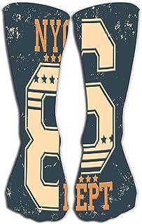 Calcetines para mujeres y hombres Lo mejor para correr, deportes atléticos, Crossfit, Flight Travel 19.7 '(50cm) moda de tipografía new york brooklyn