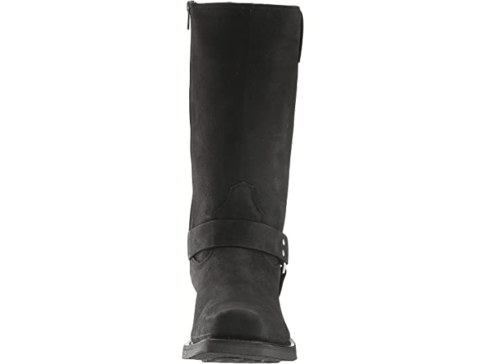 Old West Boots Harness Boot Black Distressed