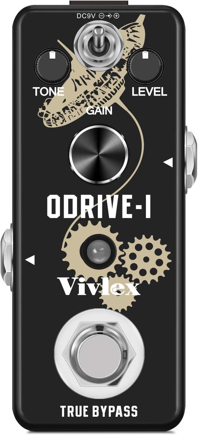 Vivlex LEF-302A Blues Overdrive Mini pedal analógico para guitarra eléctrica y bajo