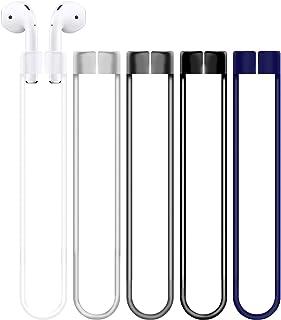 AirPods Proに適するイヤホンのためのシリコーンの反落下防止の紛失防止ロープ 5本組み、 暗い灰色、透明な青色、黒などの5色マルチカラー、柔軟性、運動用ランニング用シリカゲル糸、シリコンネックライン