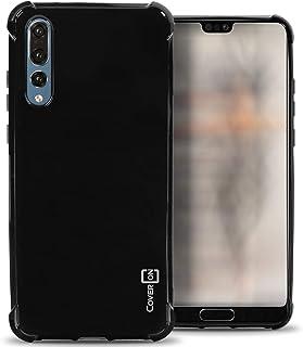 Huawei P20 Pro Case Cover, CoverON, Soft Gel TPU Skin Fit Case, Black