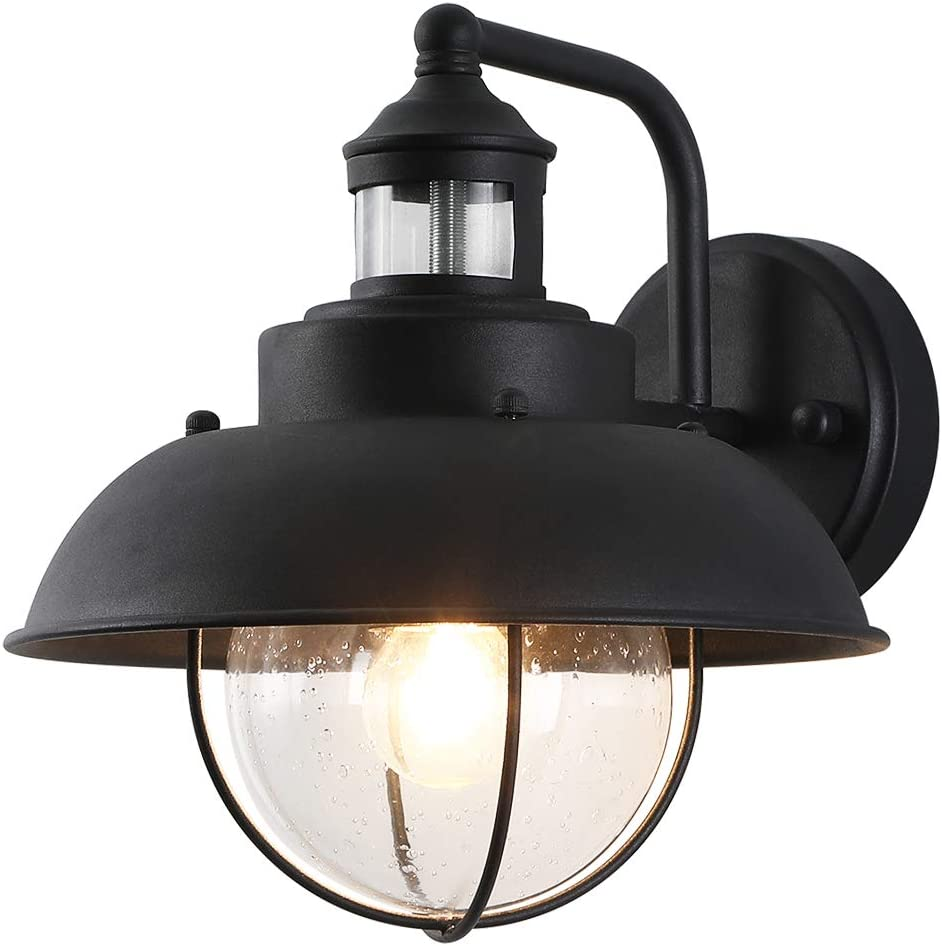 Rustic Outdoor Wall Light with Outside Glass Seeded Shade ! Super beauty product restock quality top! Clear free shipping