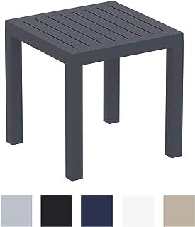 CLP Tavolo Giardino Design Box I Tavolo Lounge Impilabile in Polipropilene I Tavolino da Appoggio Idrofugo E Resistente Ai Raggi UV 70x50 CM Bianco