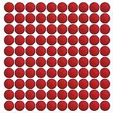 EKIND ガン弾丸ボール ナーフ ライバル用 替え玉 ボール 弾丸 おもちゃのガン弾丸ボール 6歳以上使用 100個入り レッド
